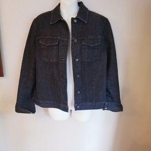 Jones New York Jean's black stretch jacket size 10
